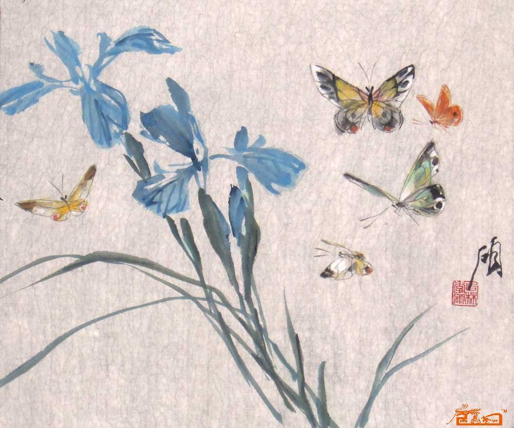 国画蝴蝶写意步骤图