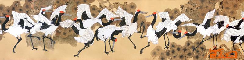 张施民-百鹤图-淘宝-名人字画-中国书画交易中心,中国