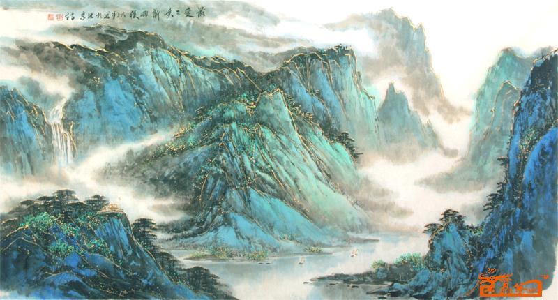 山水名家 朱安生 国际艺术席位 > 最爱三峡新雨后图片
