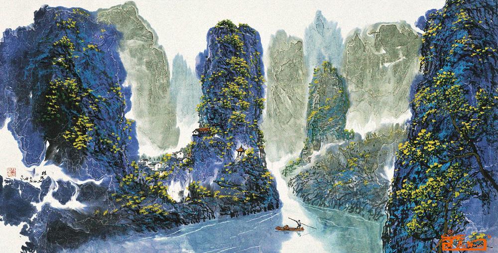 姚伯齐-桂林山水-淘宝-名人字画-中国书画交易中心