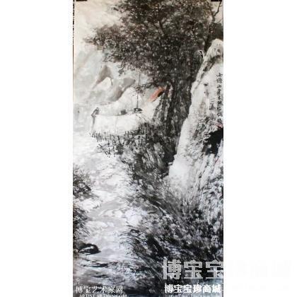 《雨过山青》王昭灿作品_竖幅山水_国画山水_水墨画 类别: 国画山水