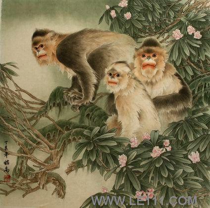 """卜昭禹的作品""""猴子"""""""