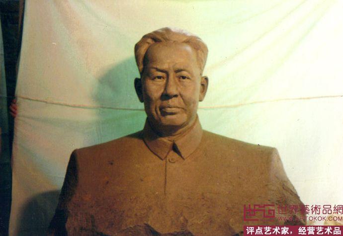 刘少奇雕塑背面