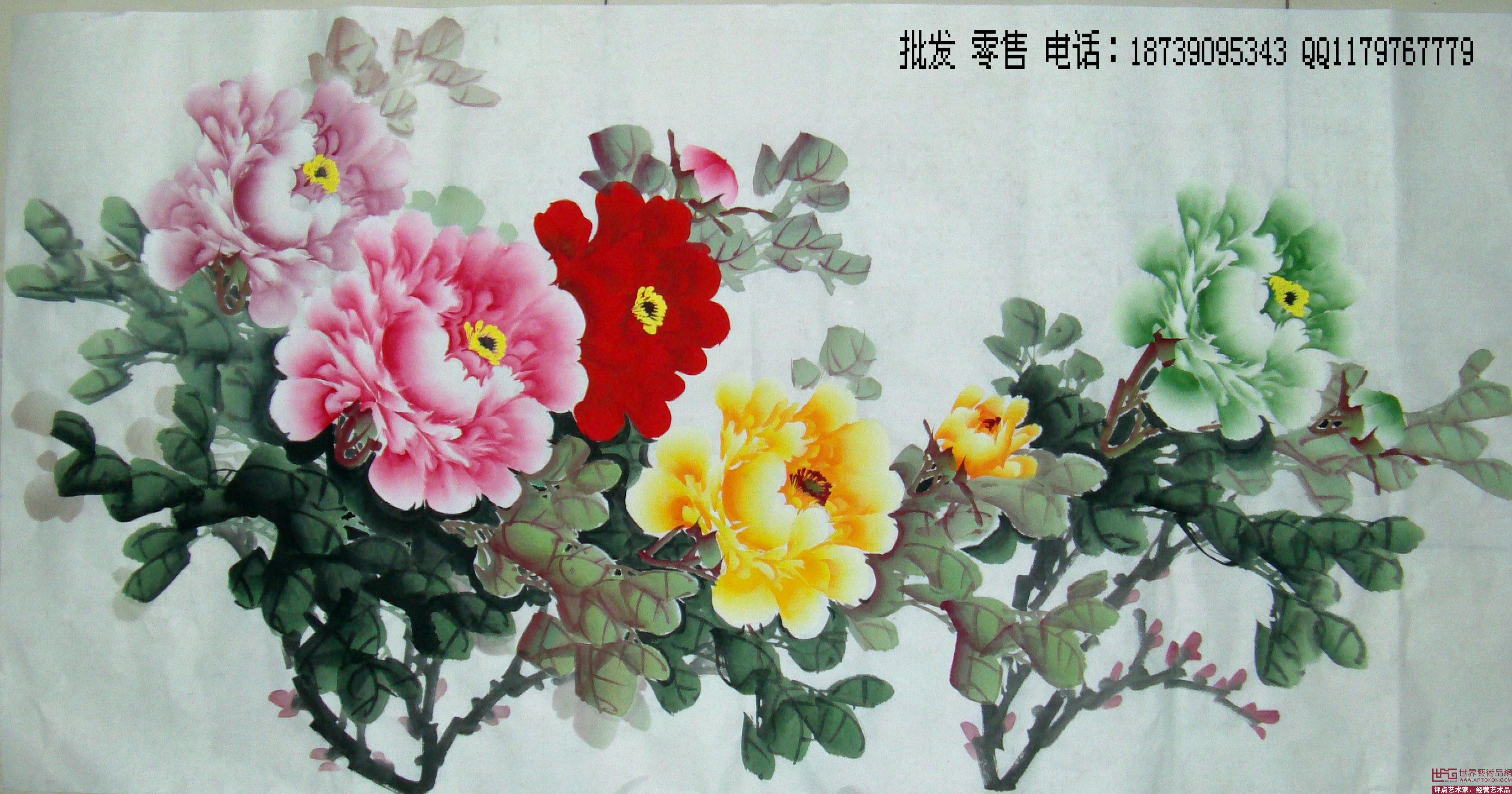 国画名家 宋亚宗 - 洛阳牡丹画 写意牡丹画 中国画牡丹 花鸟画 精品图片