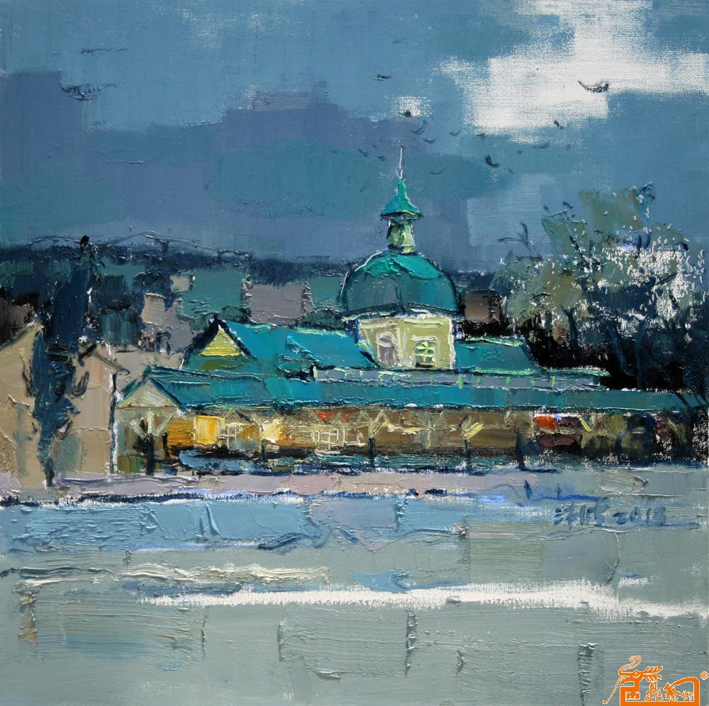 油画 - 旅顺火车站